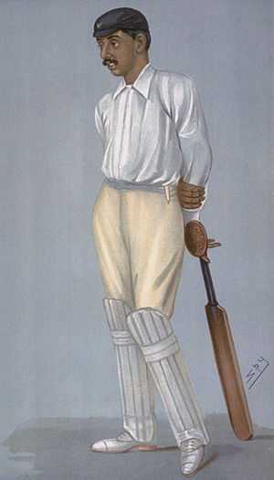 Ranjitsinhji - Ranjitsinhji caricatured by Spy for Vanity Fair, 1897
