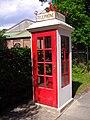 K1 Telephone Box, Lowestoft Transport Museum, 13th June 2009.JPG