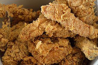 Pressure frying - KFC pressure-fried chicken.