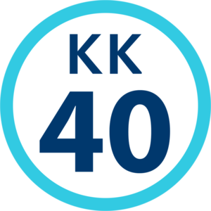 Koganechō Station - Image: KK 40 station number