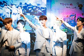 KNK (band) - KNK performing at KBS Cool FM's Jo Yoon-hee's Volume Up Radio in July 2016
