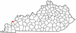 Location of Carrsville, Kentucky