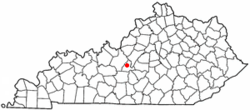 Location of Hodgenville, Kentucky