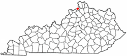Location of Warsaw, Kentucky
