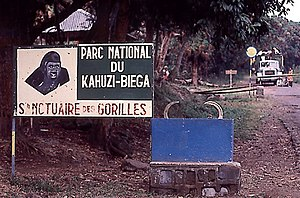 Kahuzi-Biéga National Park - Park entrance