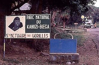 Kahuzi-Biéga National Park - Park entrance