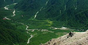 100 Landscapes of Japan (Shōwa era) - Image: Kamikochi from Mount Yake 2002 08 06