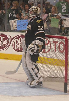 Kari Lehtonen Dallas Stars Versus Chicago Blackhawks warmup.jpg