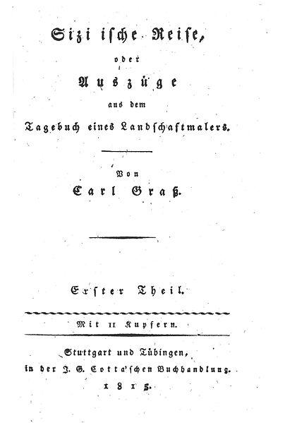File:Karl Gotthard Grass, Sizilische Reise, Band 1, Titelblatt.jpg