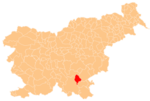 The location of the Municipality of Dolenjske Toplice