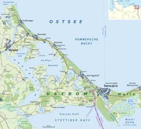 Carte d'Usedom.