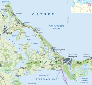 Usedom - Map of Usedom