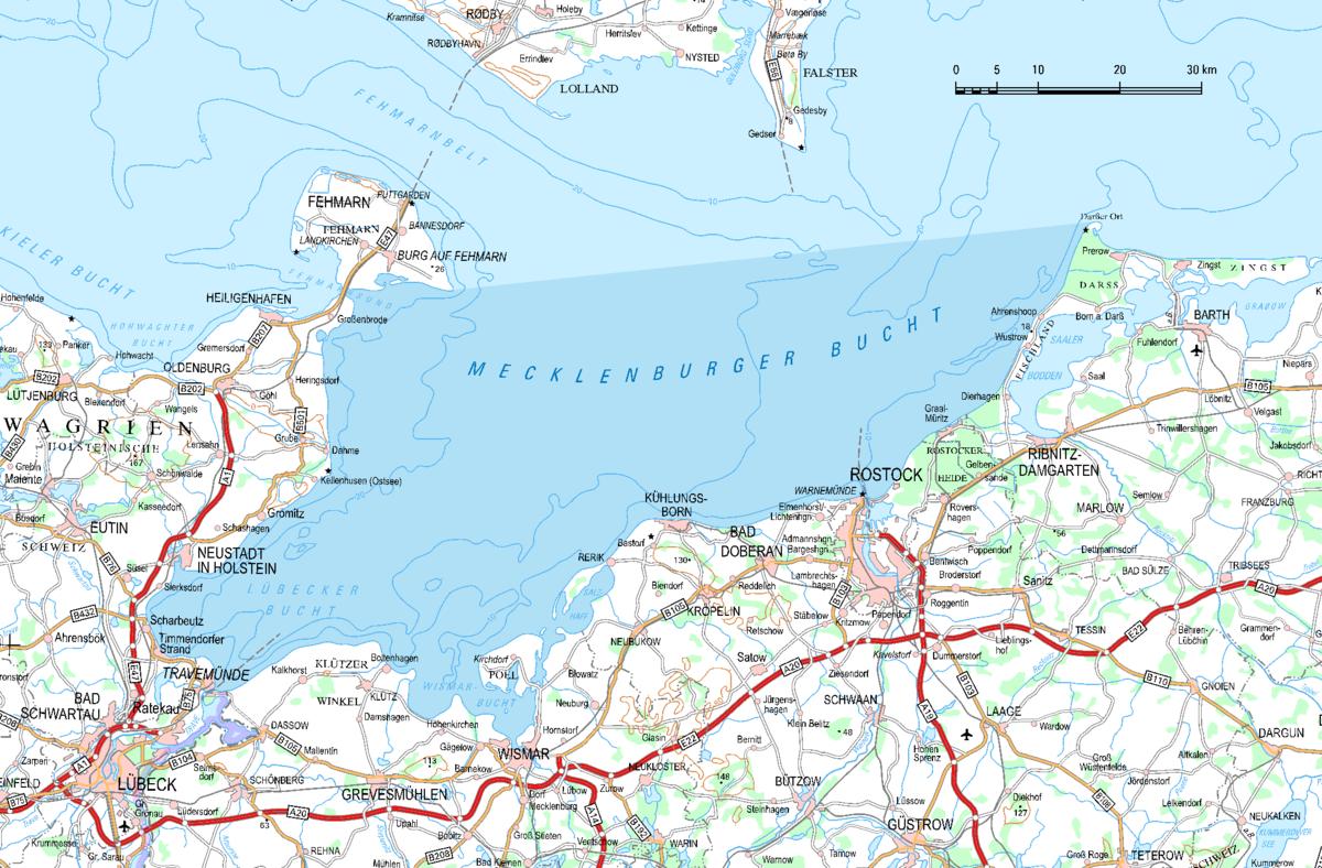 Mecklenburger Bucht – Wikipedia - Karte Deutschland Ostsee