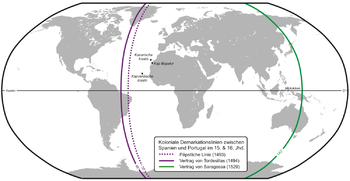 Portuguese-Spanish Treaties Map