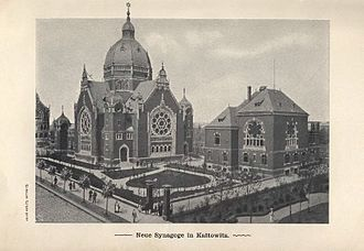 Katowice - The Great Synagogue in Katowice was destroyed by the Nazis during the invasion of Poland on 4 September 1939