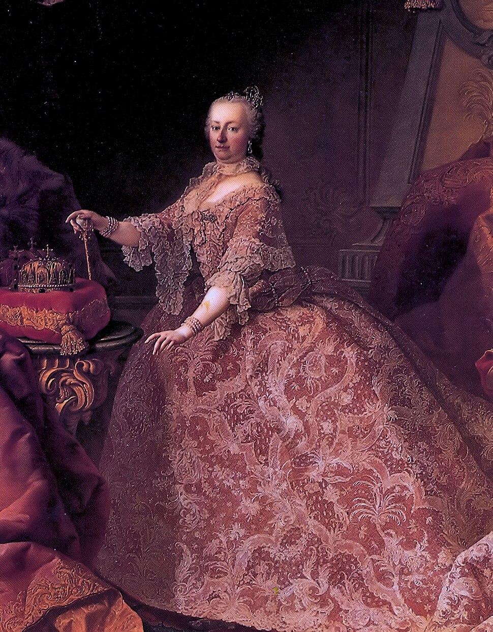Keizerin Maria Theresia geschilderd door Martin van Meytens, 1752-53