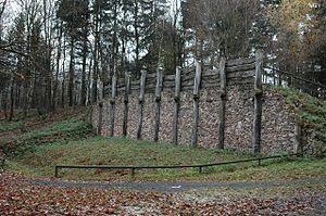 Hillfort of Otzenhausen - Reconstruction of a Celtic wall on the Donnersberg