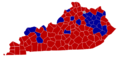 Kentucky Senatorial Election Results by County, 2010.png