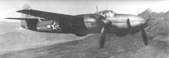 Mitsubishi Ki-83 - A Ki-83 during a postwar USAAF evaluation flight.