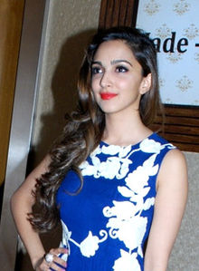 Kiara Advani at the promotions of 'Fugly' in Ahmedabad (cropped).jpg