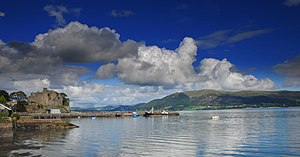 County Down - King John's Castle on Carlingford Lough.