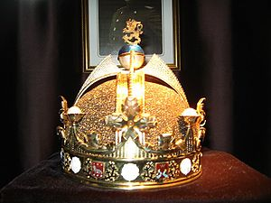Unique crown designed for the first and only k...