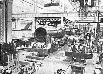 Swindon Works - King class locomotives under construction, 1928