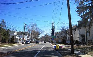 Kingston, New Jersey - Kingston as seen from northbound Route 27