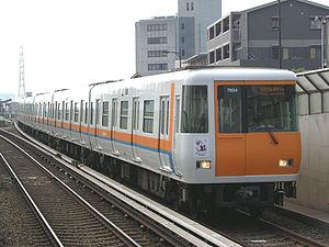 Kintetsu 7020 series - A 7020 series train, August 2006