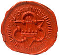 Klatovy old civitas seal ~1580.jpg