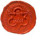 Klatovy old civitas seal ~1580.jpg