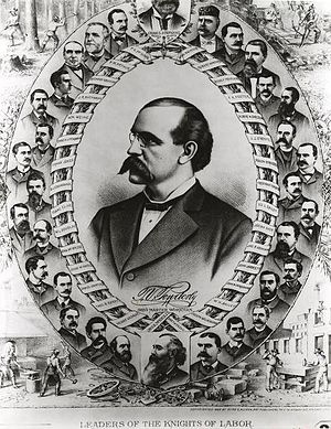 Terence V. Powderly - Print of the Knights of Labor leaders with Powderly featured prominently