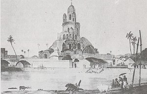 Chitpur - Nabaratna Temple in 1798