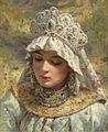 Konstantin Egorovič Makovskij - Russian Beauty Wearing a Kokoshnik.jpg