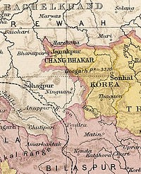 Kartenausschnitt aus The Imperial Gazetteer of India