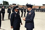 Korean air force GEN Eung Yul Yoon, right, talks with GEN Robert Mathis, U.S. Air Force vice chief of staff, before his departure from the United States after his visit.jpeg