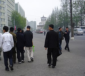 Korean youth on Pyongyang street