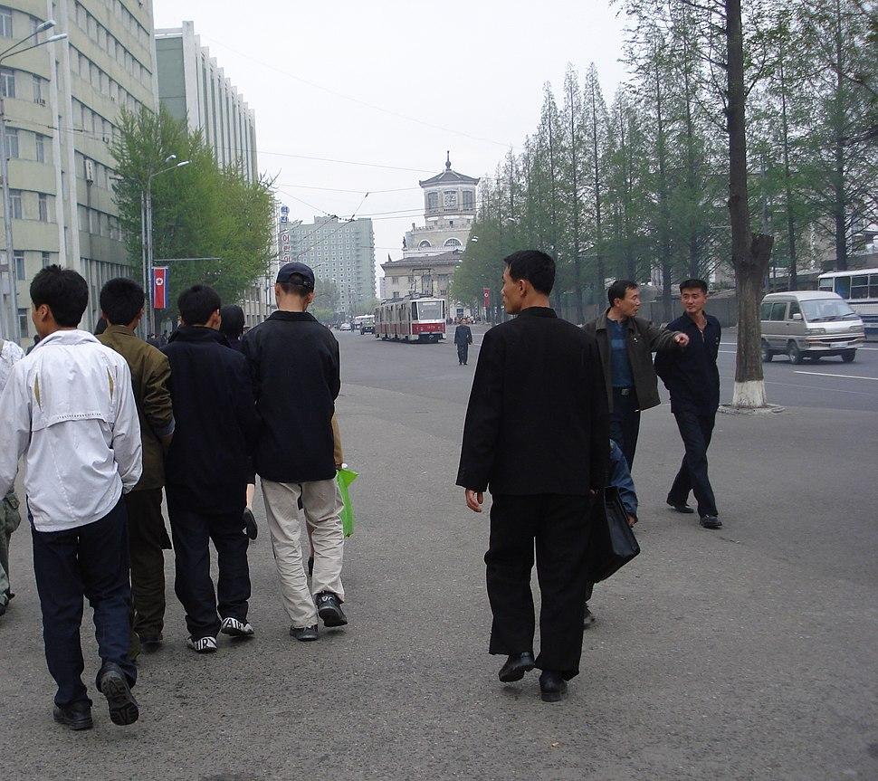 Korean youth on Pyongyang street