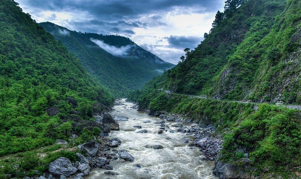 Kosi River valley near Almora, Uttarakhand, India