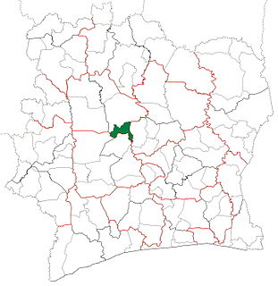 Kounahiri Department Department in Woroba, Ivory Coast
