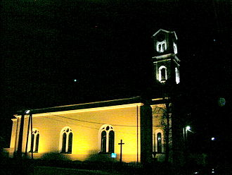 Krásno nad Kysucou - Krasno St. Andrew´s church at night