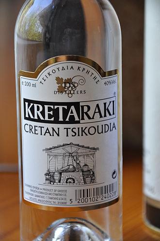 Rakı - A bottle of Greek Rakı.