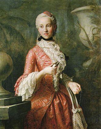 Maria Kunigunde of Saxony - Portrait of Maria Kunigunde by Pietro Rotari