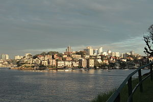 Kurraba Point as seen from Cremorne