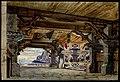 L'atrio della reggia dei Gibicungi, bozzetto di artista ignoto per Il crepuscolo degli dei (1896) - Archivio Storico Ricordi ICON009442.jpg