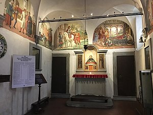 San Martino del Vescovo - The interior of L'oratorio dei Buonomini di San Martino, also known as San Martino del Vescovo