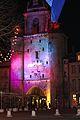 La Tour de la Grosse Horloge illuminée, Noël 2009 (2).JPG