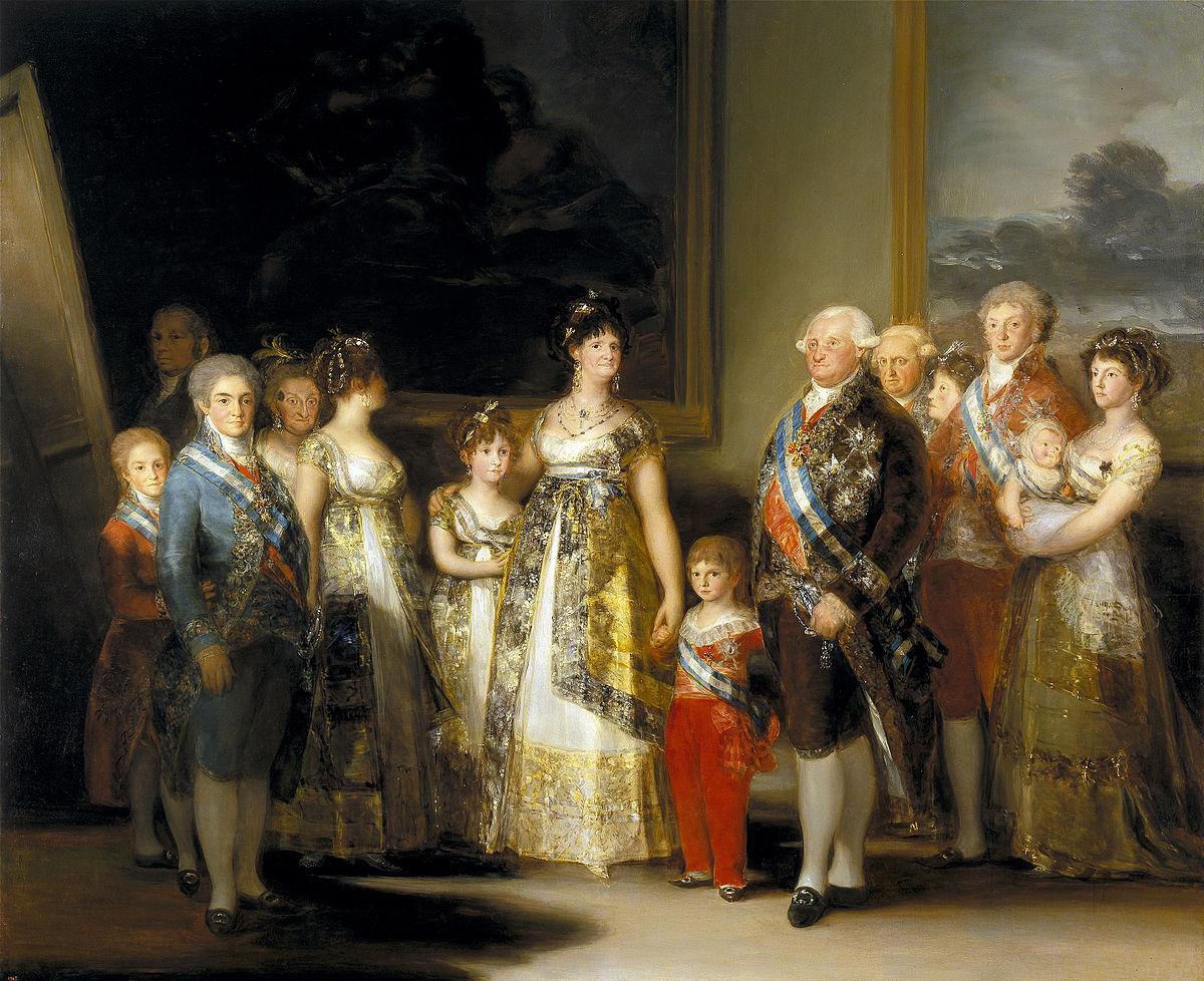Resultado de imagen de goya la familia de carlos iv