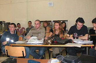 Institute of technology - Students at the Technical University of Sofia, Bulgaria