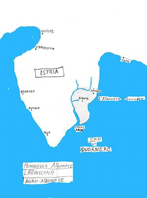 Labinština - Istria County showing Labinština